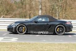 2012 Porsche 981 Boxster Spy shots Side view