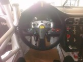Bellet Racing 2011 white Porsche 911 GT3 Cup Car Interior