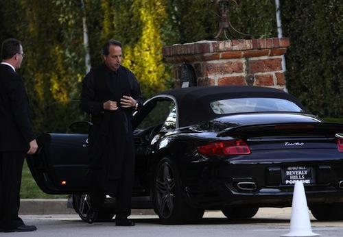 Jon Lovitz comedy actor and his black Porsche 911 Turbo Cabriolet
