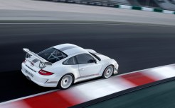 Limited White 2011 Porsche 911 GT3 RS 4.0 wallpaper Side angle top view