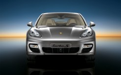 Topaz brown Metallic 2011 Porsche Panamera Turbo S wallpaper Front view