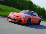 2007 Orange Porsche 911 GT3 RS Wallpaper Front angle side view