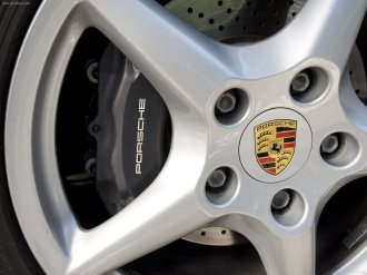 2007 Red Porsche 911 Carrera 4 Wallpaper Wheel
