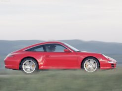 2007 Red Porsche 911 Targa 4 Wallpaper Side view