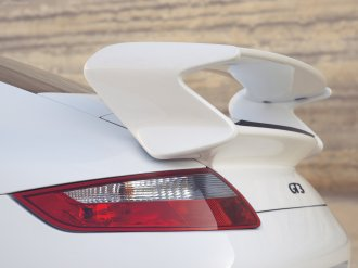 2007 White Porsche 911 GT3 Wallpaper Rear spoiler