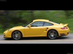 2007 Yellow Porsche 911 Turbo Wallpaper Side view