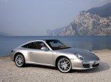 2009 Silver Porsche 911 Targa 4 Wallpaper Front angle side view