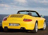 2009 Yellow Porsche 911 Carrera Wallpaper Rear angle view