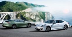 2011 White Porsche Panamera Diesel wallpaper Side view