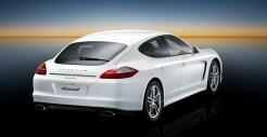 2011 White Porsche Panamera Diesel 3000x1560 wallpaper Rear angle view
