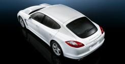 2011 White Porsche Panamera Diesel 3000x1560 wallpaper Rear angle top view