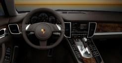 2011 White Porsche Panamera Diesel wallpaper Interior