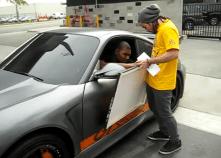 Andrew Bynum's Porsche 911 TECHART GTstreet Side angle view