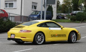 2012 new Porsche 911 (Porsche 991) Spy shot Rear angle side view