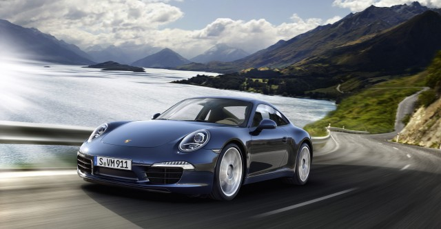 2012 new porsche 911 Carrera S Front angle view