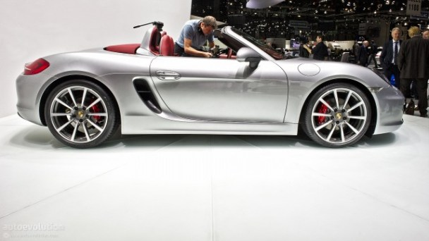 New Porsche Boxster side view