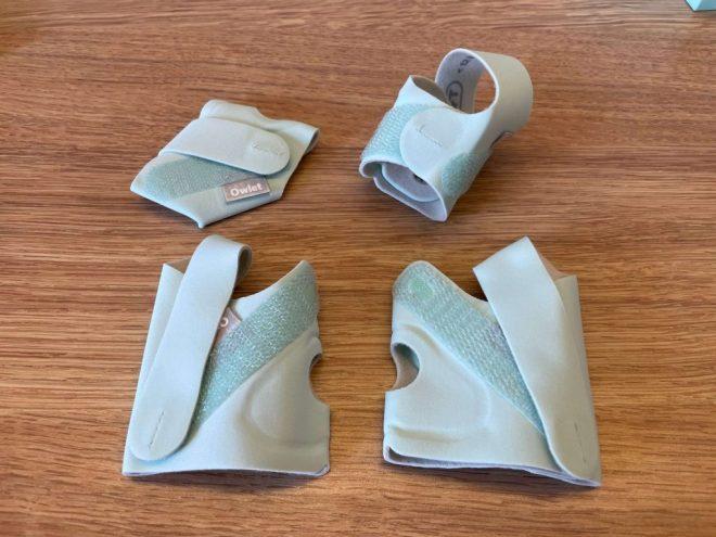 ▲ Owlet 智慧襪一共有四只襪子,可以使用 0~18 個月