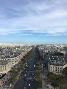 The Champs Elysee from the top of the Arc