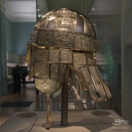 Celtic designs on helmet, British Museum 1/6/2016