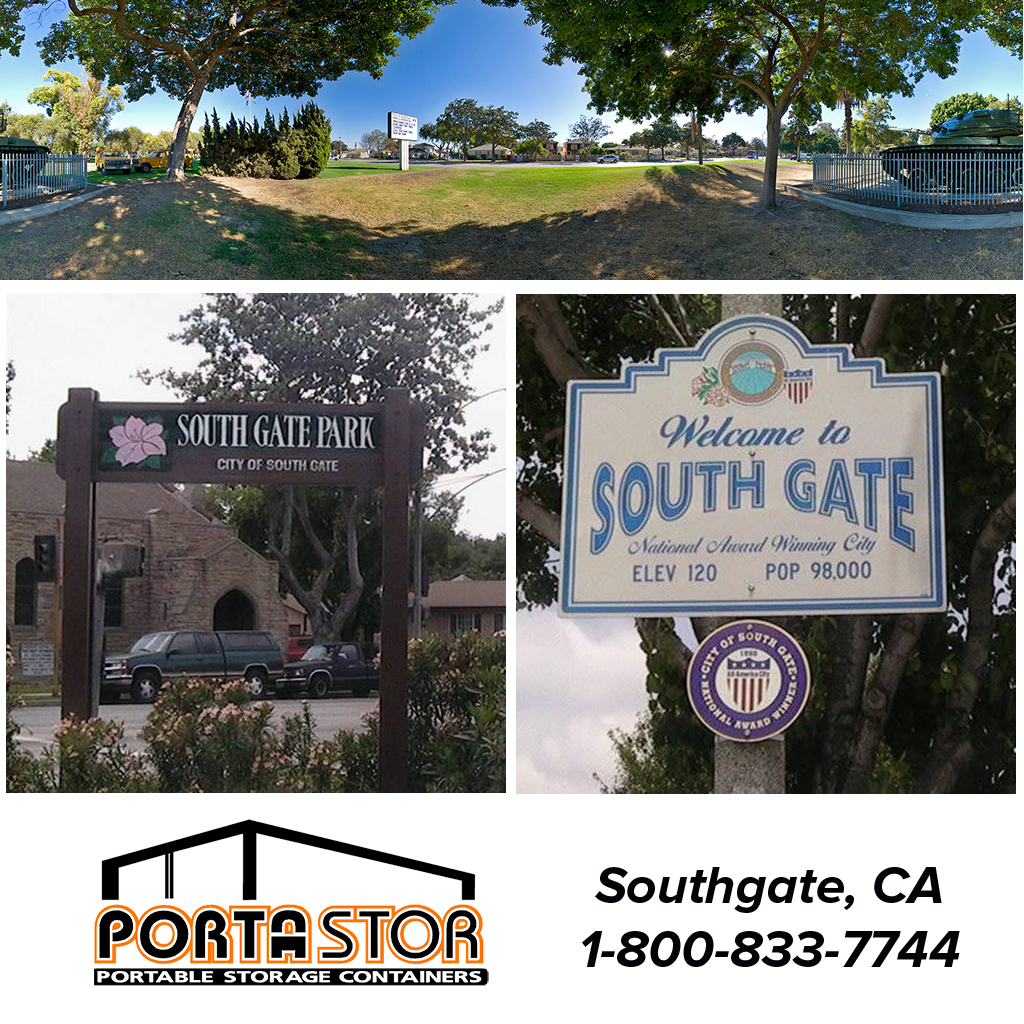 Rent portable storage containers in Southgate, CA