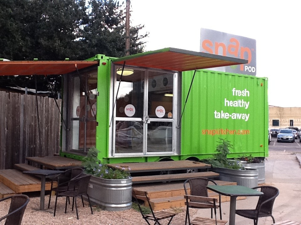 shipping container street restaurant