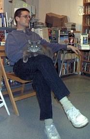Sean as cat furniture