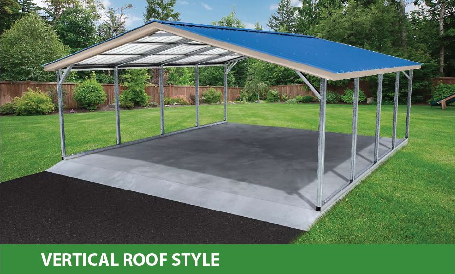 boxed eave style standard carport
