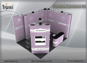 4 meter x 3 meter Portable exhibition kit 2 side _432S-9