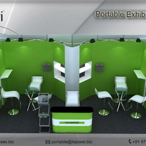 6 meter x 3 meter Portable exhibition kit 3 side Open_633S-6