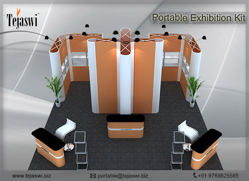 6 Meter x 6 Meter Portable Exhibition Kit 4 side open_664S-1
