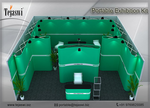 6 Meter x 6 Meter Portable Exhibition Kit one side open_661S-2