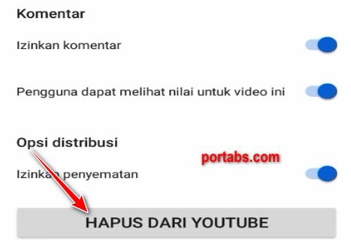 Cara Menghapus Video Youtube