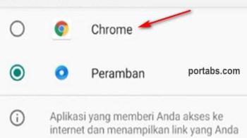 Cara Membuat Browser Google Chrome Menjadi Browser Utama di Android