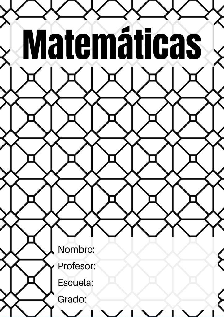 descargar portadas matemáticas
