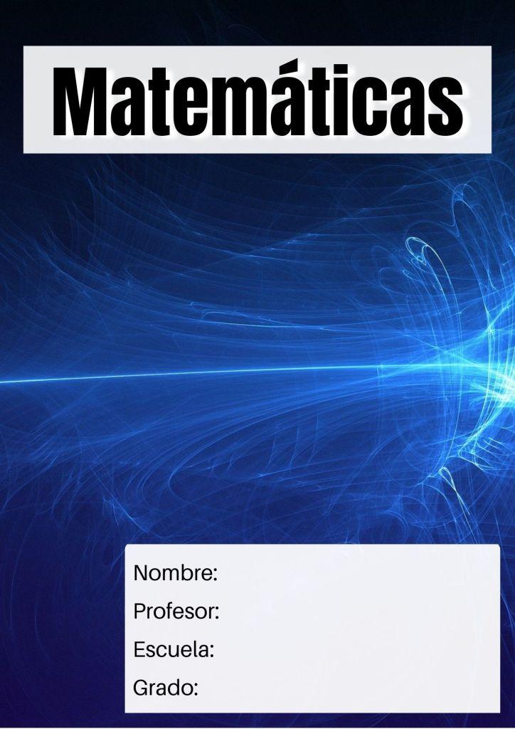 carátula para matemáticas