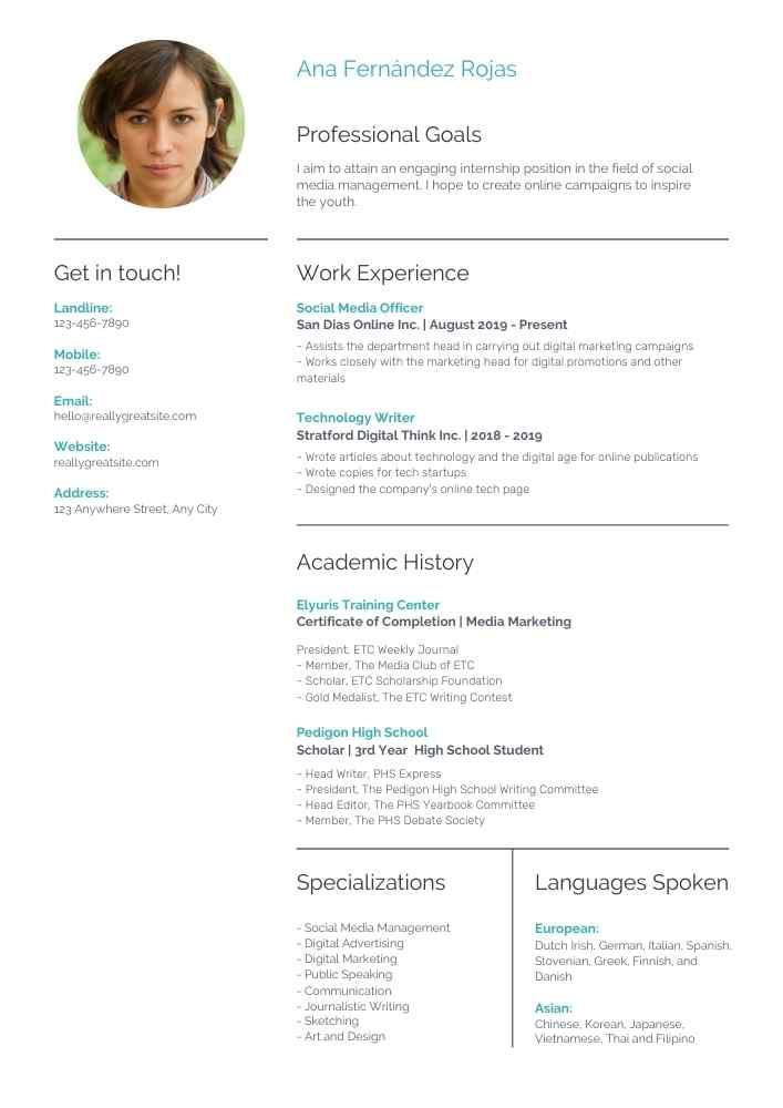 plantilla para curriculum 1