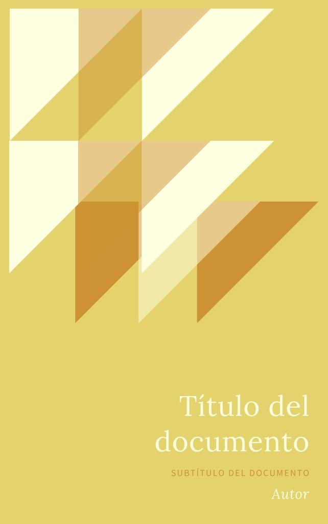 Portada de Libro Collage Triangulos Amarillo