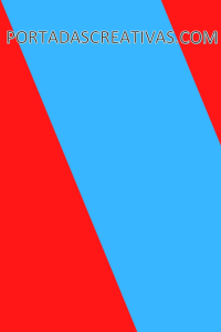 Portada para trabajos roja y azul
