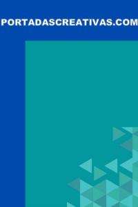 Portada para trabajos azul triángulos