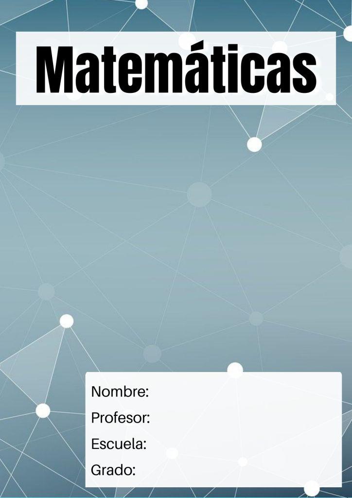 carátulas para matemáticas