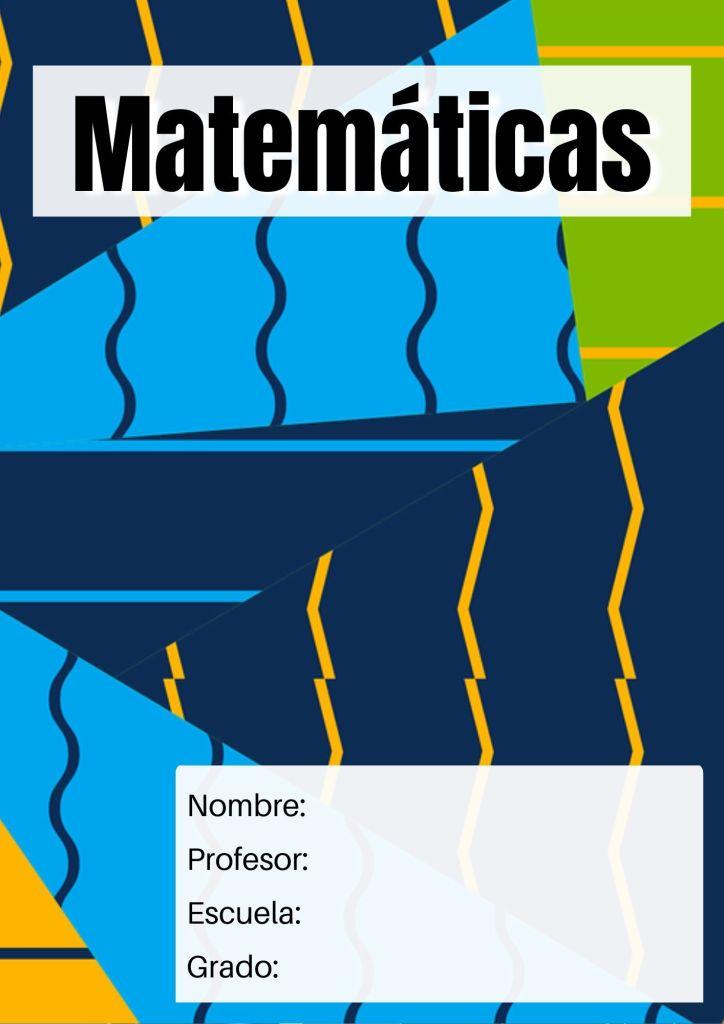 carátulas matemáticas