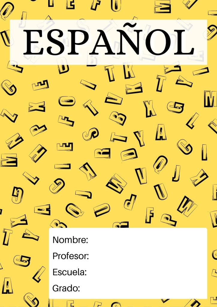 portada de español para secundaria