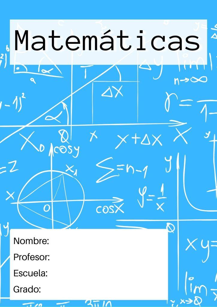 portadas de matematicas