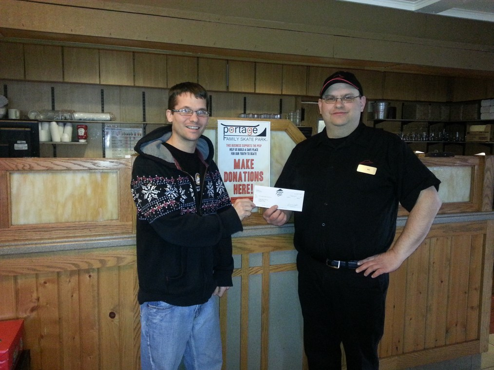 Kyle Little President of the PFSP & Ned Kreklow Store Manager Portage, WI Pizza Hut