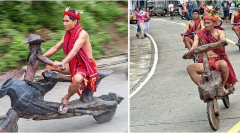 , Bicicletas talladas en madera: así se traslada esta tribu Filipina