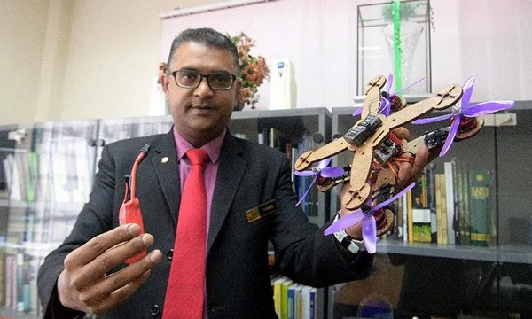 En Malasia fabrican drones ecológicos con desechos de ananá