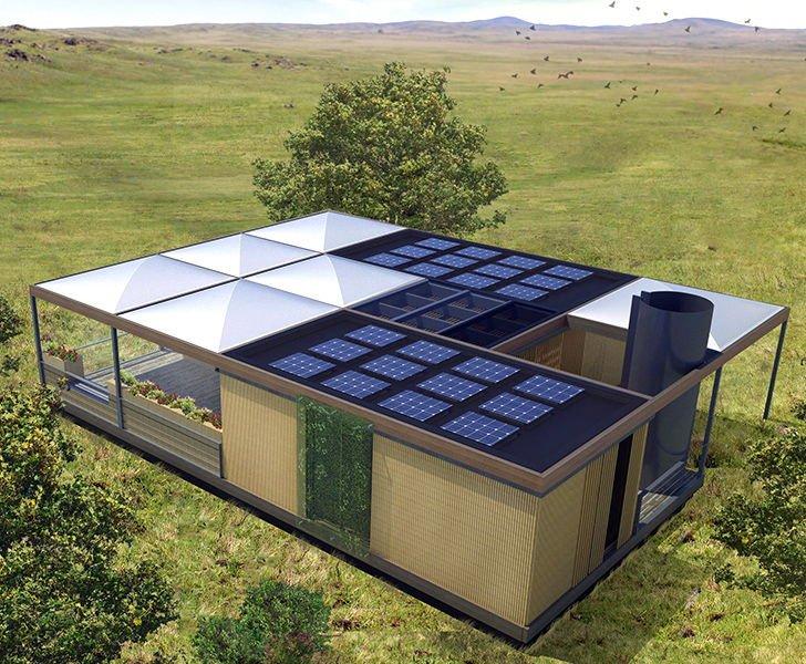 La casa que genera su propia energía, reutiliza el agua y produce alimentos.