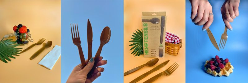 , Joven creó utensilios descartables 100% compostables hechos de Cáñamo