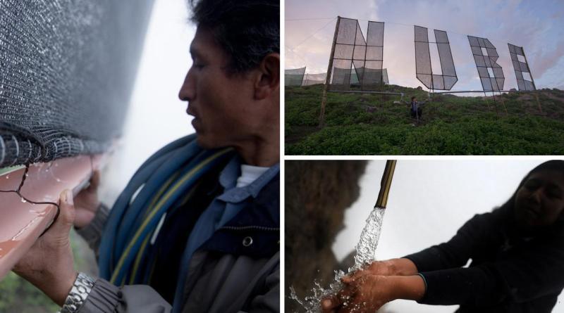 , Los atrapanieblas permiten extraer 10.000 litros de agua al día incluso en el desierto