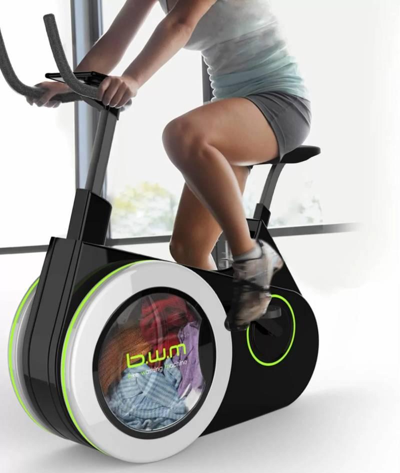 , La bici-lavadora para que puedasentrenar mientras lavas tu ropa